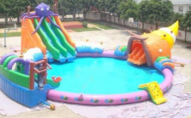 2017 pvc commercial inflatable wate game inflatable pool for Piscinas inflables grandes