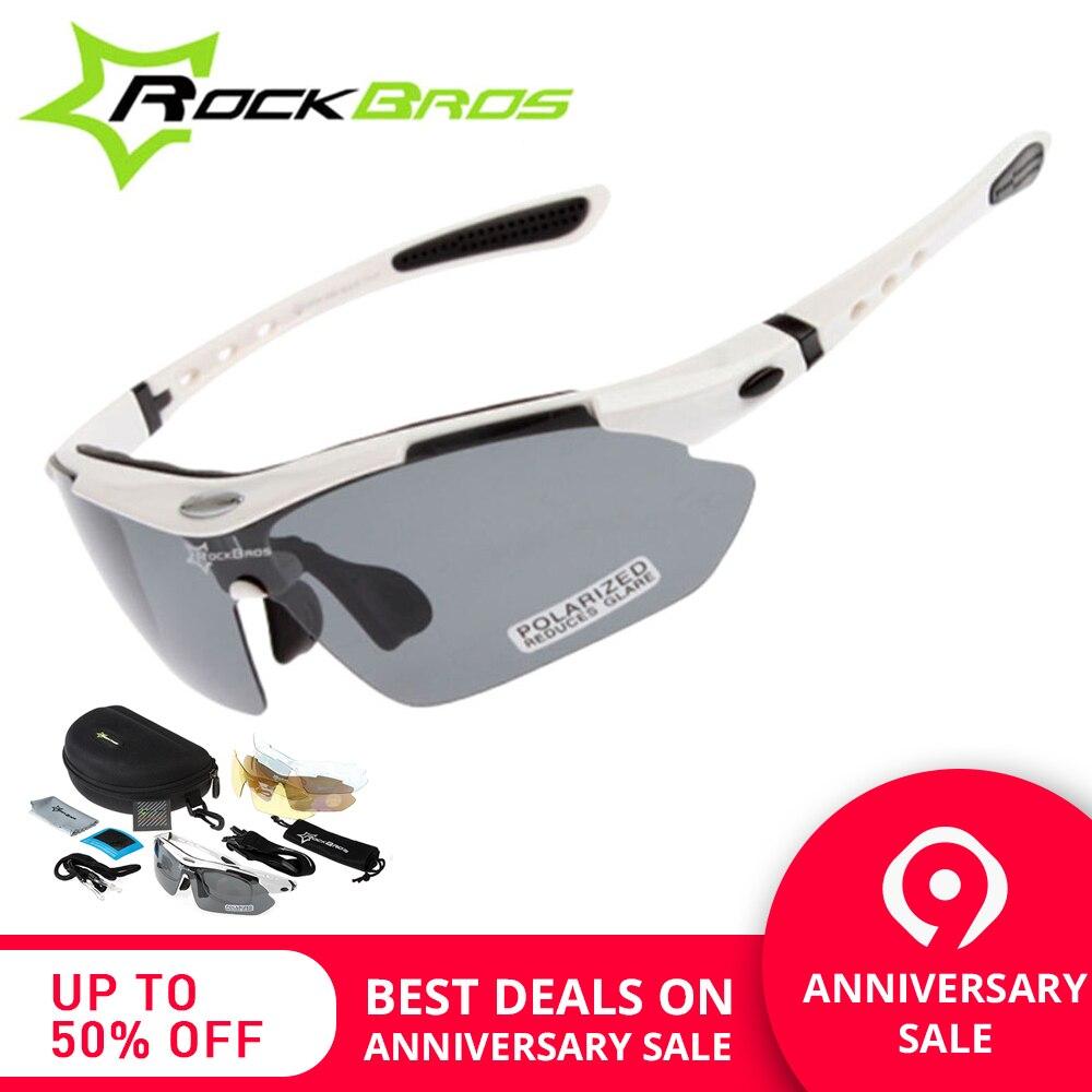 20bef0cad7 RockBros los polarizadas ciclismo gafas de sol al aire libre deportes de  bicicletas clismo bicicleta de carretera MTB gafas de sol TR90 gafas 5  lente en ...