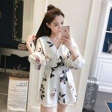 2020 Summer New Korean Women Jumpsuit Flora Printing V-neck Short Bodysuit Wide-