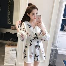 2020 Summer New Korean Women Jumpsuit Flora Printing V-neck