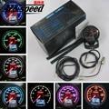 "Ace speed-Car Gauge Fuel Press Gauge 7 Light Color LCD Display With Voltage Fuel Pressure Meter 60mm 2.5"" With Sensor Gauge"