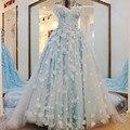 2017 nueva flor del cordón de lujo vestido de novia de la boda de alto grado sweet romántica abalorios de cristal bola de partido del vestido formal del banquete vestidos