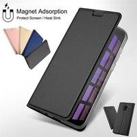 Magnetische Lederen Boek Flip Telefoon Case Voor Xiao mi mi A2 lite A1 Kaarthouder COVER Voor Red Mi Note 7 5 6 Pro 5A Prime 4X4 6A Plus