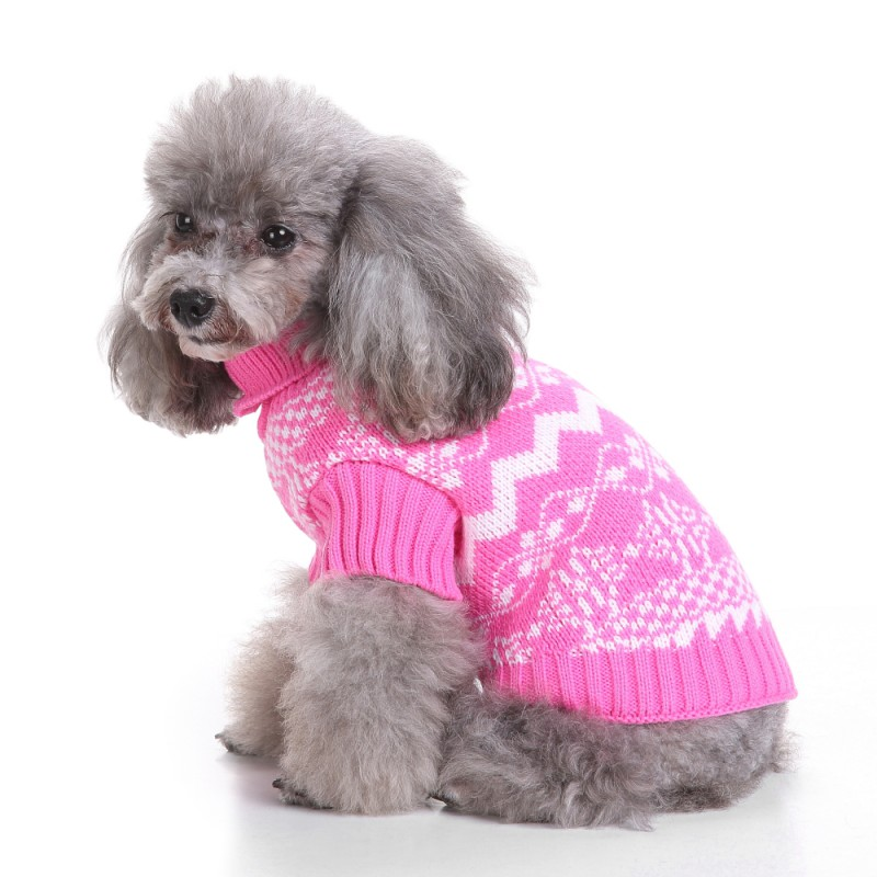 4f0c16ae1345 Pet Snowflake Dog Sweater Famous Chinese Dog Lover Design Snowy Day ...