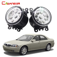 Cawanerl 2 Pieces Car LED Bulb Fog Light DRL Daytime Running Lamp High Lumen White Blue