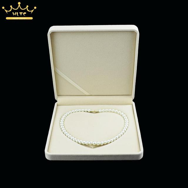 Us 16 05 Aliexpress Com Buy High Quality Gift Boxes Jewelry Display Luxury Necklace Box Velvet Wedding Favors Pearl Necklace Organizer Case Free
