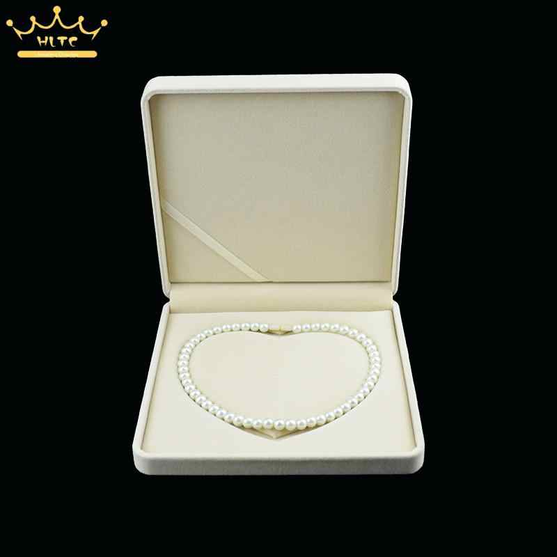 Details about  /Velvet Necklace Pendant Gift Box Case Jewelry Display Gray high quality