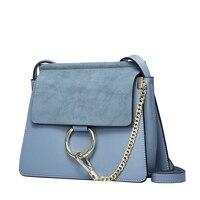 New Designer Female Genuine Leather Messenger Bags For Women Famous Brands Real Matte Leather Crossbody Bag