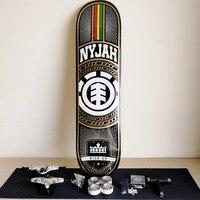 USA Brand Skateboard Deck 8 inch & Skate Trucks 5.25 & Skateboard Wheels 52mm with Bearings Skateboarding Accessories