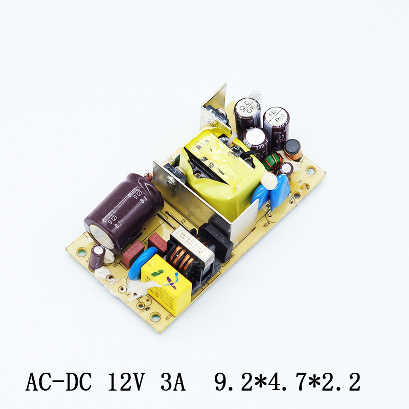 AC-DC 12V 3A Switching Power Supply Circuit Board Voltage Regulator Module For Monitor LED Lights 3000MA 100-240V 50/60HZ Power switching power supply adapter ac 90v 240v to dc 5v 300ma 1 5w buck converter voltage regulator driver module
