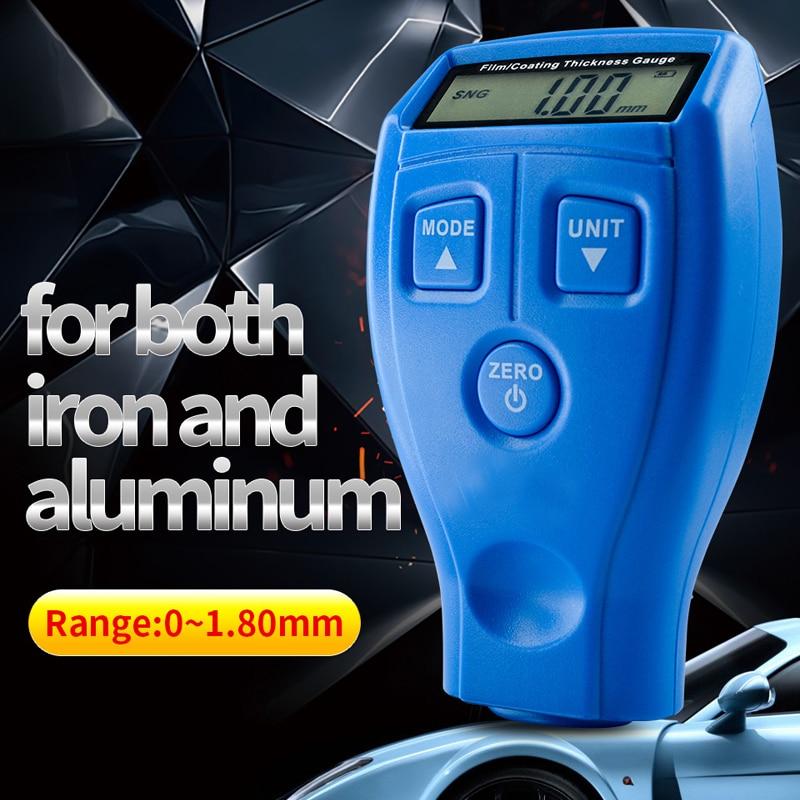 Ultrasónico película Mini recubrimiento medidor de espesor Tester espesor de recubrimiento coche pintura espesor Gauge Meter 0-1,80mm 0-71.0mil GM200A