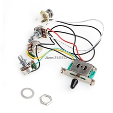 1Pc Strat Stratocaster Guitar 5-Way Switch 250k Pots Knobs Wiring Harness Pickup Guitar Parts