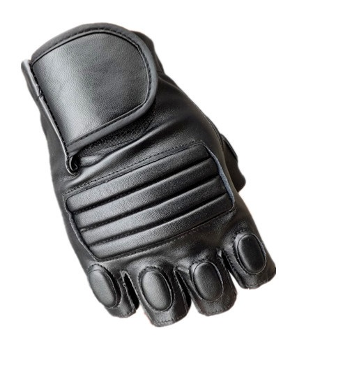 In summer men's leather sheepskin glove finger half car ride Bang leakage training and tactical fitness