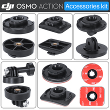 ULANZI  DJI Osmo Action Camera Accessories Kit Mount Base Gopro Adapter for Osmo Action 1/4 Screw for Tripod Arca Quick Release original dji osmo quad charging system adapter excluded charge 4 batteries accessories