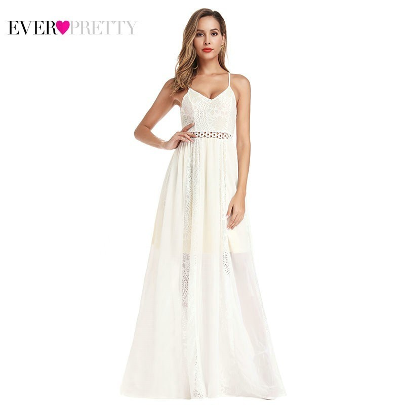 Vestido Madrinha Ever Pretty Lace   Bridesmaid     Dresses   Long A-Line V-Neck Spaghetti Straps Sexy Formal Wedding Guest   Dresses   2019