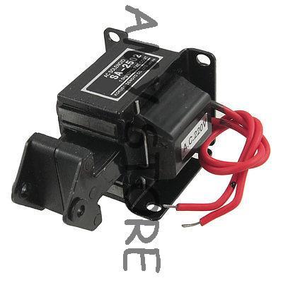 SA-2502 Lift 1.5kg Stroke 15mm AC 220V AC Tractive Solenoid Electromagnet