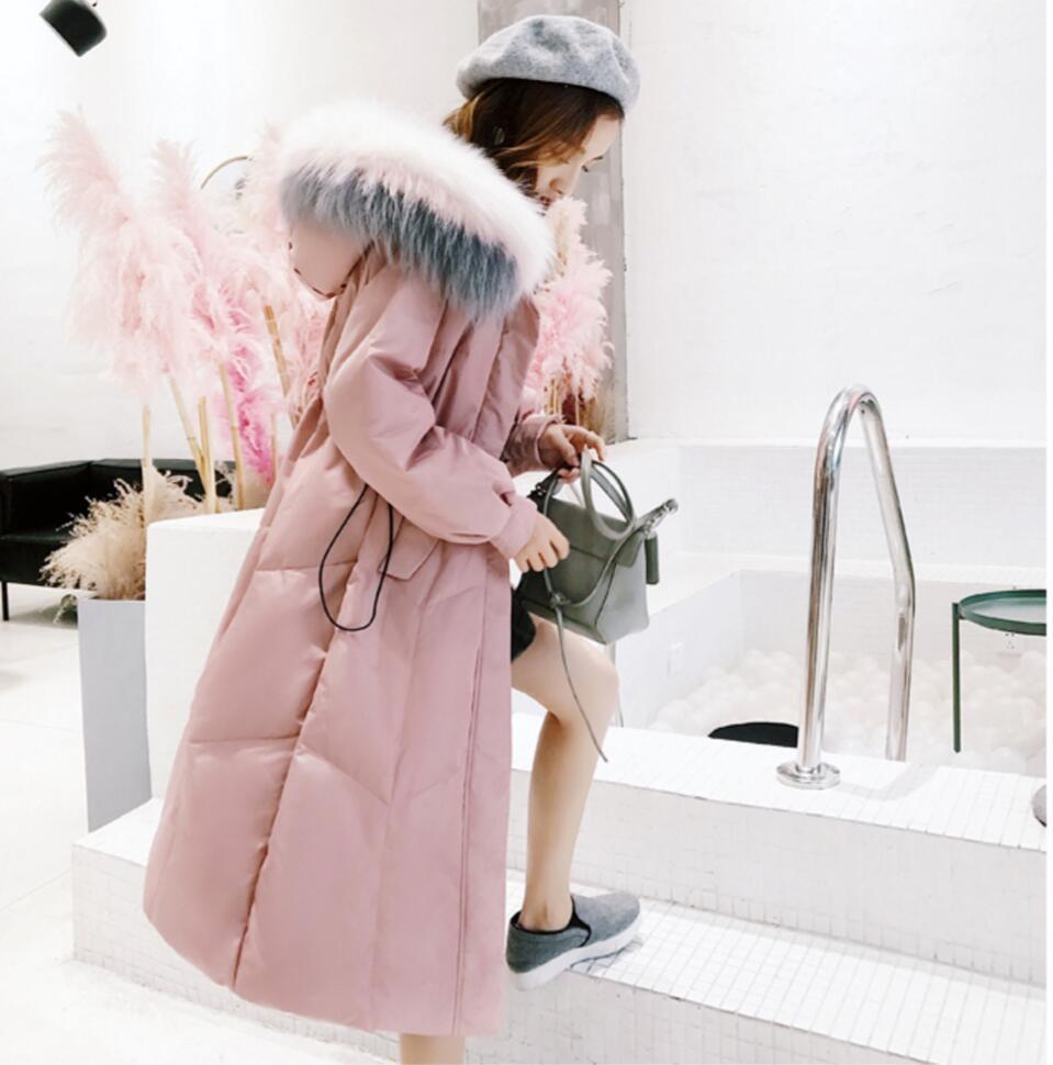 black Grand D'hiver Vestes Épais white Chaud As044 Capuche Hiver Manteau Pink Parkas Parka Femmes 2018 Overknee Fourrure Nouvelle Veste À Longue Outwear 61qRIwx0