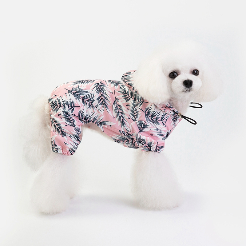 Dog Raincoats Dog Clothing & Shoes Detachable Rain Jacket Dog Raincoat Pet Waterproof Dogs Water Resistant Clothes Floral Patterns Trench Coat For Rainy Day Latest Fashion