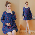 New Arrival  Maternity Dresses Spring Autumn Printed  Pregnant Dress Long Sleeve  Maternity Clothing For Pregnant Women Clothes