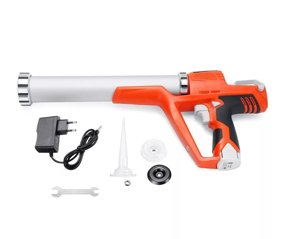 12V 1.5AH Electric Cartridge Sealant Gun Cordless Caulking Gun Battery Caulking Gun For Both Cartridge And Sausage Sealant Use