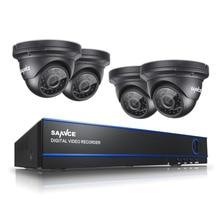 SANNCE 8CH CCTV Sistemi 2.0MP 1080 P AHD DVR 4 ADET Açık Gece Görüş Hava Güvenlik Kamera Video Gözetim Kitleri