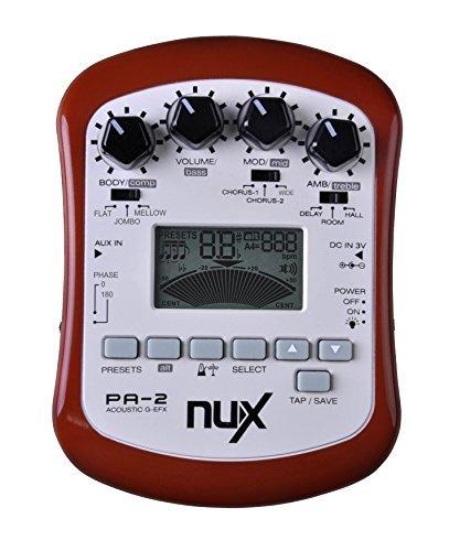 Prix pour NUX PA-2 Portable Acoustique Guitare Multi-effets Pédale Processeur Plat Tuning Fonction