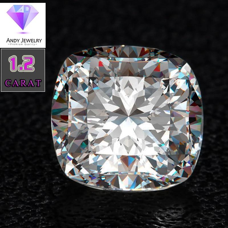 6.5*6.5mm DEF taille coussin Blanc Moissanite Pierre Laboratoire Moissanite Diamant 1.2 carat pour Anneau