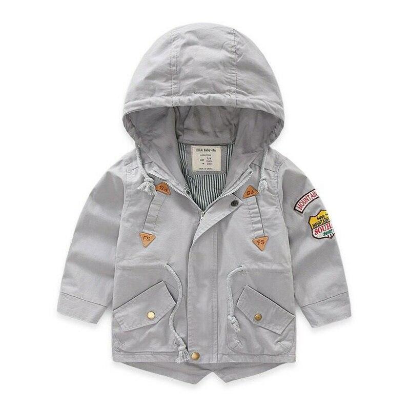 För 2-9 år Baby Boy Jacka Coat Kids Hooded Windbreaker Bomull - Barnkläder - Foto 3