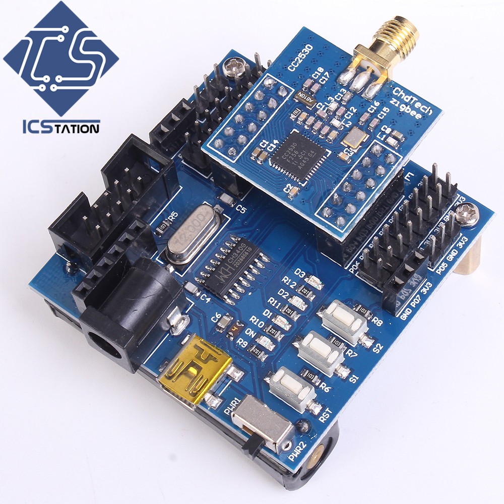 CC2530 Core Board Development Kit IOT Smart Home Wireless Module for Zigbee Contiki IOT Smart Home Wireless Module zigbee cc2530 wireless transmission module rs485 to zigbee board development board industrial grade