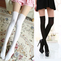 Velvet fake thigh splice tights Sexy pantyhose Overknee tights for Womens and girls white black