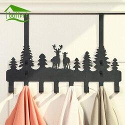 New Carton Design Metal Iron Robe Hooks With 8 hooks Wall Decor Hat Coat Clothes Hangers Storage Rack Key Holder Home Organizer