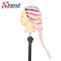 New Hairdressing Practice Training Head Yaki Synthetic Hair Doll Cosmetology Mannequin Heads Women Hairdresser Manikin Sale