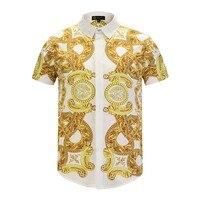 Mens Hawaiian Shirt New Summer Beach Button Short Sleeve Chemise Homme Imprimée Mens Womens Slim Fit Casual Skirt Travel Party