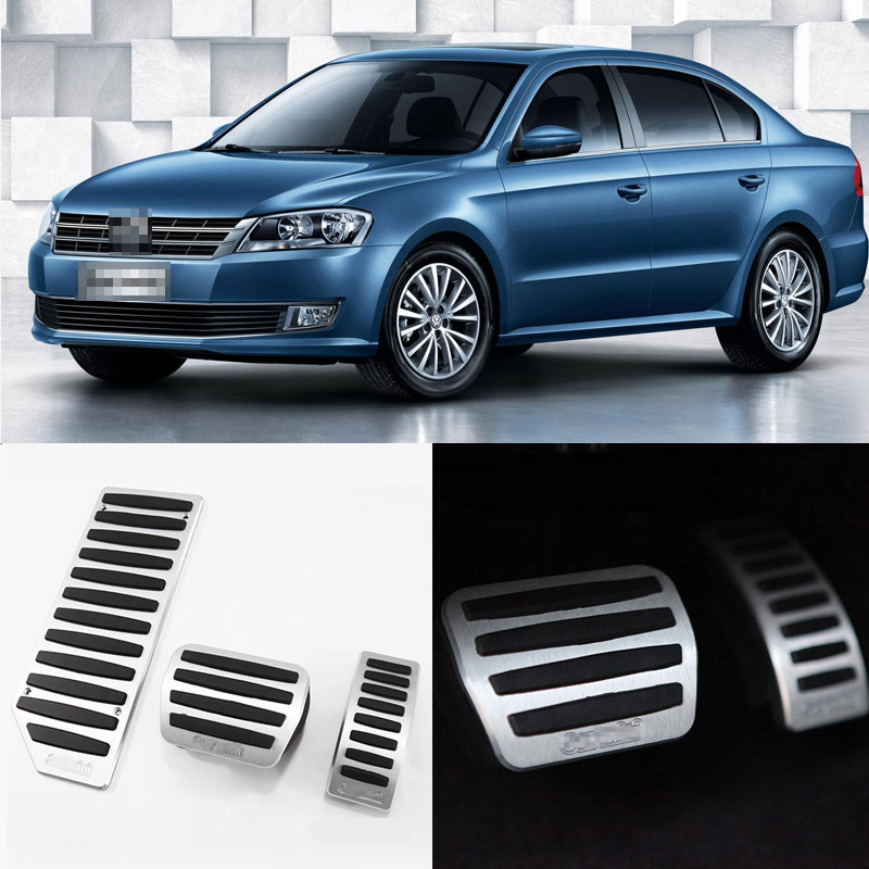 Brand New 3pcs Aluminium Non Slip Foot Rest Fuel Gas Brake Pedal Cover For VW Lavida AT 2008-2016 brand new 3pcs aluminium non slip foot rest fuel gas brake pedal cover for vw touran at 2008 2015