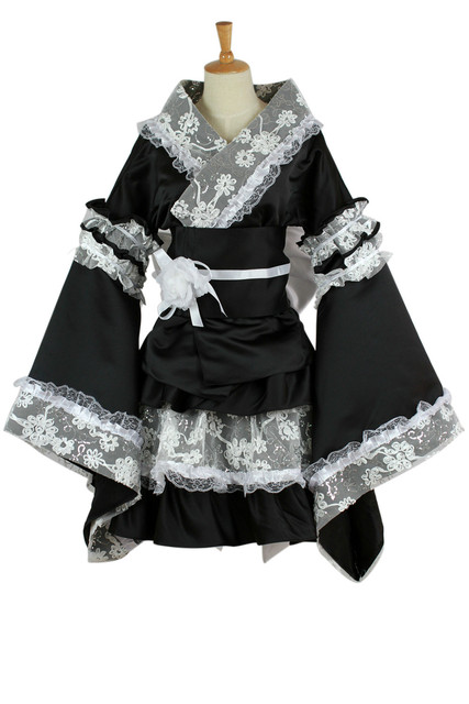 maid cosplay costume for women Anime clothes lace kimono ...