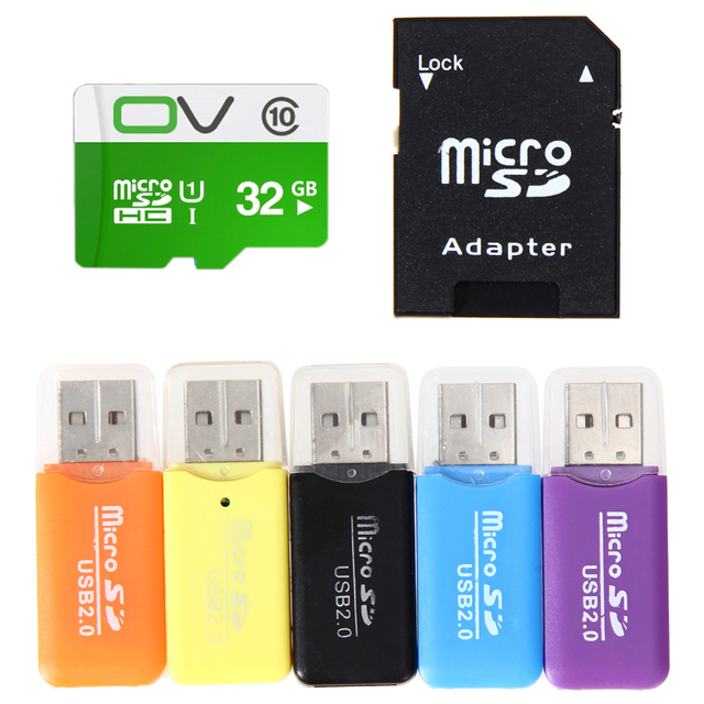 32 ГБ SD Card Реальная Емкость 32 Г Micro SD TF Карт Флэш-Памяти + Card Reader для Телефона/Tablet/Camera/PSP/Windows/Android/Mac OS
