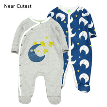 Купить с кэшбэком Near Cutest baby pajamas baby bodysuits newborn baby clothes long sleeve underwear cotton costume boys girls autumn