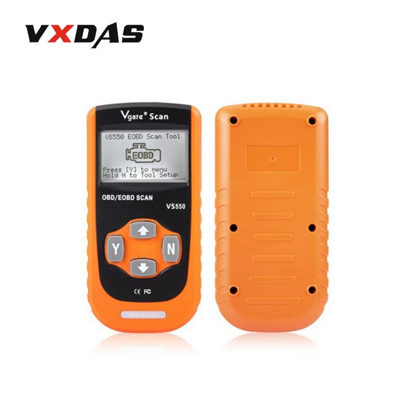 Vgate VS550 Automotive OBD II OBD2 OBDII ODB Diagnostic Code Reader Scanner Scan tool VS550 VS 550 VgateScan OBD/EOBD Scan Tool free shippinng diy om580 obd scanner automotive obd2 eobd car code reader for engine abs dsc srs fault diagnostic tool
