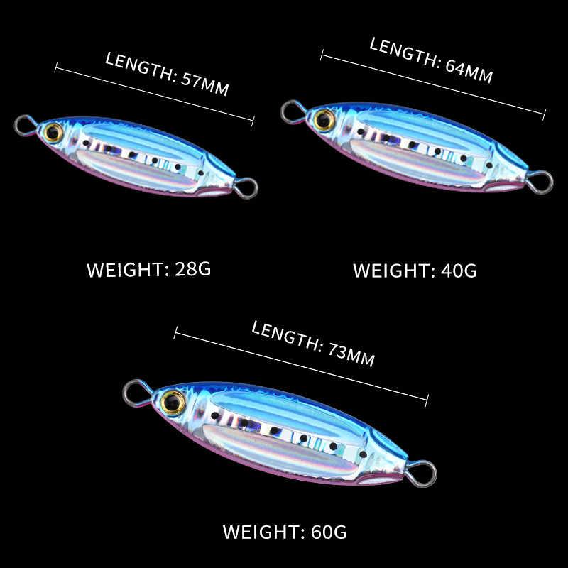 ALLBLUE nouveau plus lent ovale métal lent gabarit coulée cuillère 28G 40G 60G appât artificiel pêche à la rive gabarits plomb métal leurre de pêche