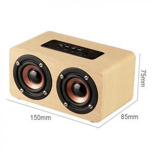 Image 3 - W5 10W 52MM כפול צופר עץ 4.2 Bluetooth רמקול עם AUX אודיו השמעת מיקרו USB ממשק עבור טלפון נייד/מחשב