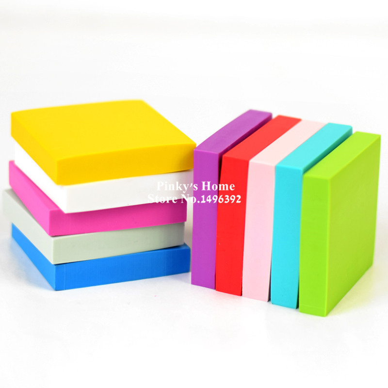 DIY Professional Engraving Rubber Eraser Brick Square Rubber Stamp Candy Color For Scrapbooking