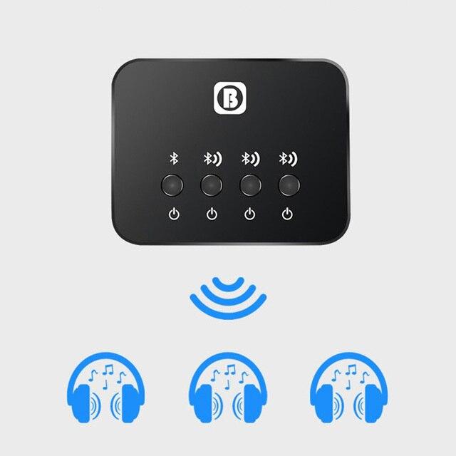 Dual Link Optical Transmitter บลูทูธ v4.1 Multi คู่ 1 ถึง 3 Mini สำหรับทีวีอะแดปเตอร์เสียงเพลงไร้สายสำหรับหูฟัง/ลำโพง