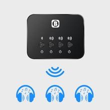 듀얼 링크 광 송신기 블루투스 v4.1 멀티 페어 1 ~ 3 미니 tv 용 무선 음악 오디오 어댑터 헤드폰/스피커 용