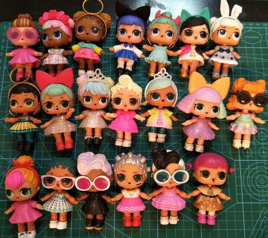 5pcs Original LOL dolls plastic doll series 2 dress up doll with clothes accessories bottle without ball