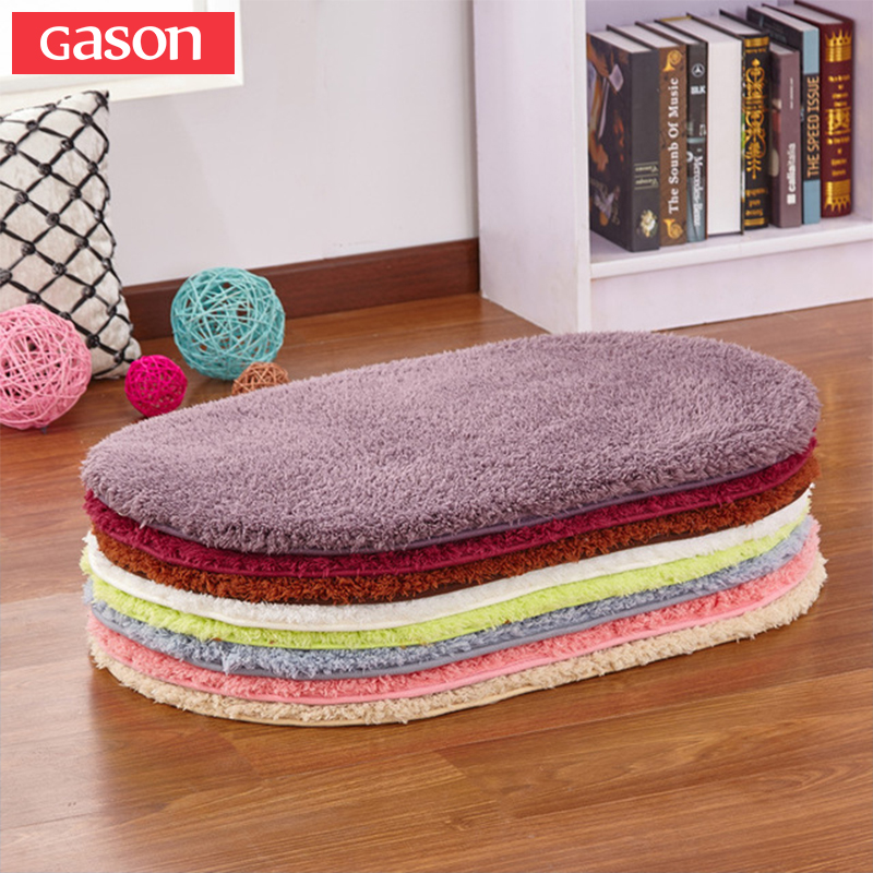 Strong-Willed Gason 9 Item Size Modern Minimalist Bedroom Carpet Oval Carpet Living Room Bathroom Kitchen Mat Lambskin Bathroom Carpet Mat Bath Mats