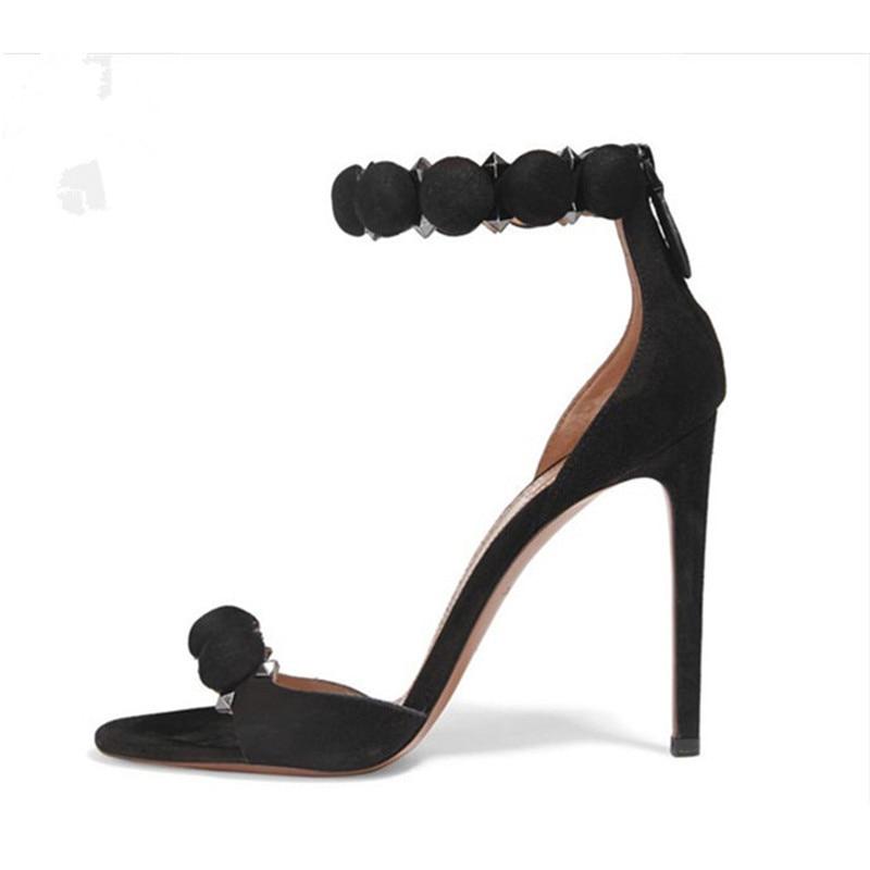 Chaussures Luchfive Sandales Parti Taille Haute Talons Gladiateur Cheville La Grande Femmes Show Femme Balle Plus As Lacets À Rivet Show Vente Chaude Bride 10 Daim En as Cm HqtUrH