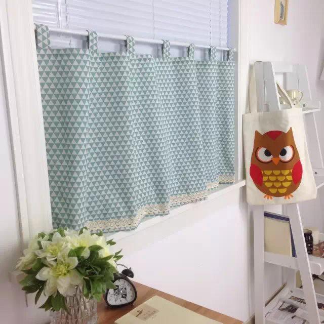 Achetez en gros bleu plaid rideaux en ligne des - Rideau court fenetre ...