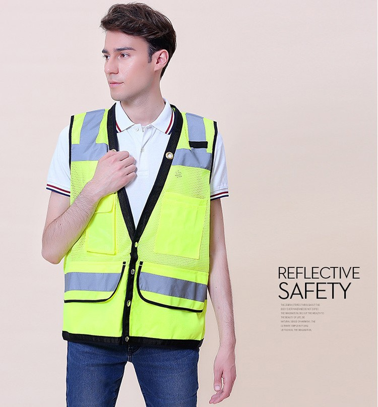 Security & Protection Romantic Sfvest En471 Hi Vis Vest Safety Vest With Logo Printing Workwear Safety Jacket Free Shipping Workplace Safety Supplies