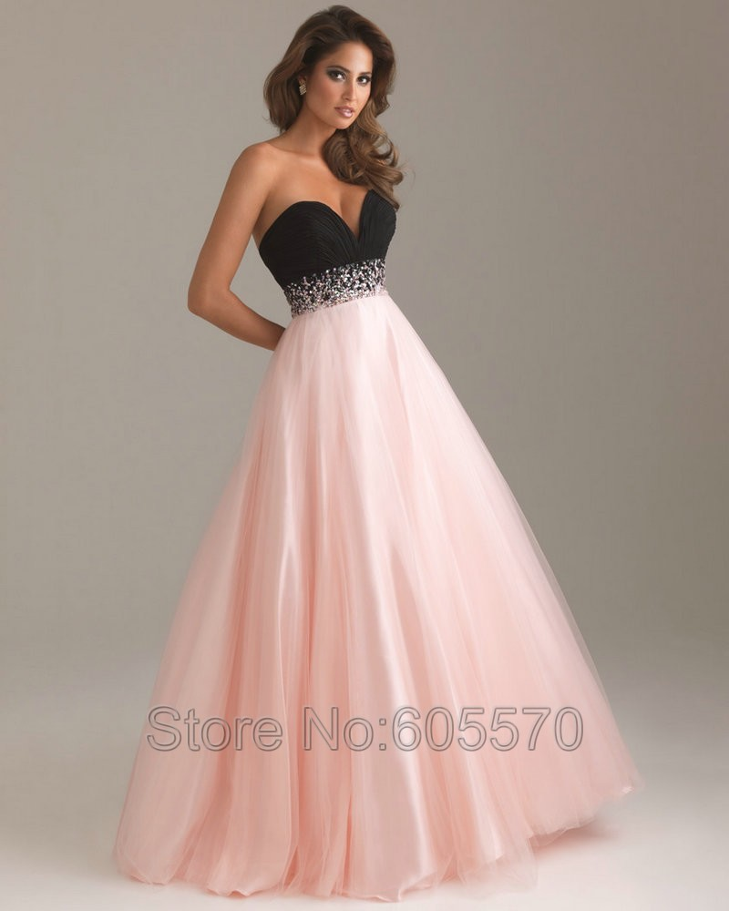 Pink Turquoise Tulle Sweetheart Cheap Prom DressesLong Best Sale ...