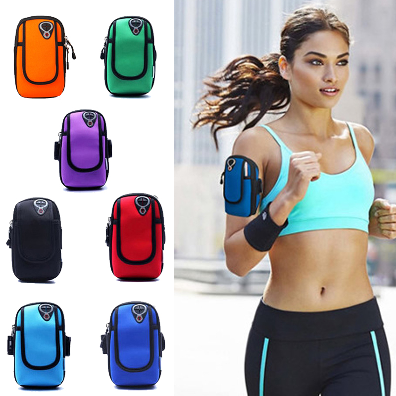 5 inch Sports Jogging Gym Armband Running Bag Arm Wrist Band Hand Mobile Phone Case Holder Bag Outdoor Waterproof Nylon Hand Bag running bags sports exercise running gym armband pouch holder case bag for cell phone free shipping